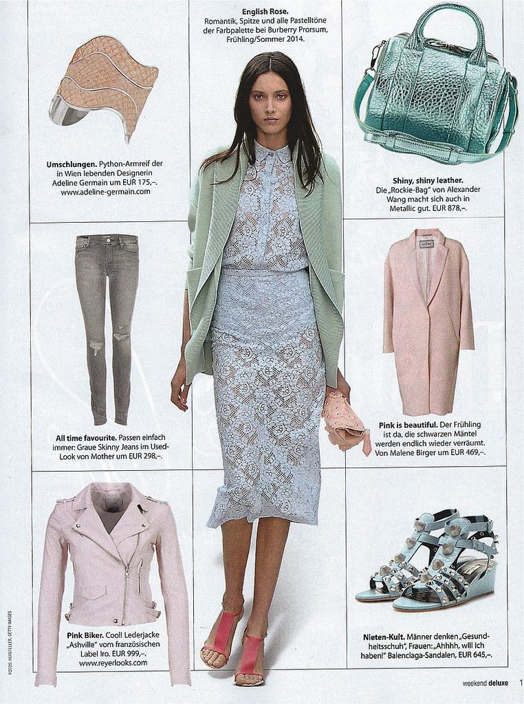 weekend Magazin March 2014 - ADELINE GERMAIN Bracelet Python/Nude