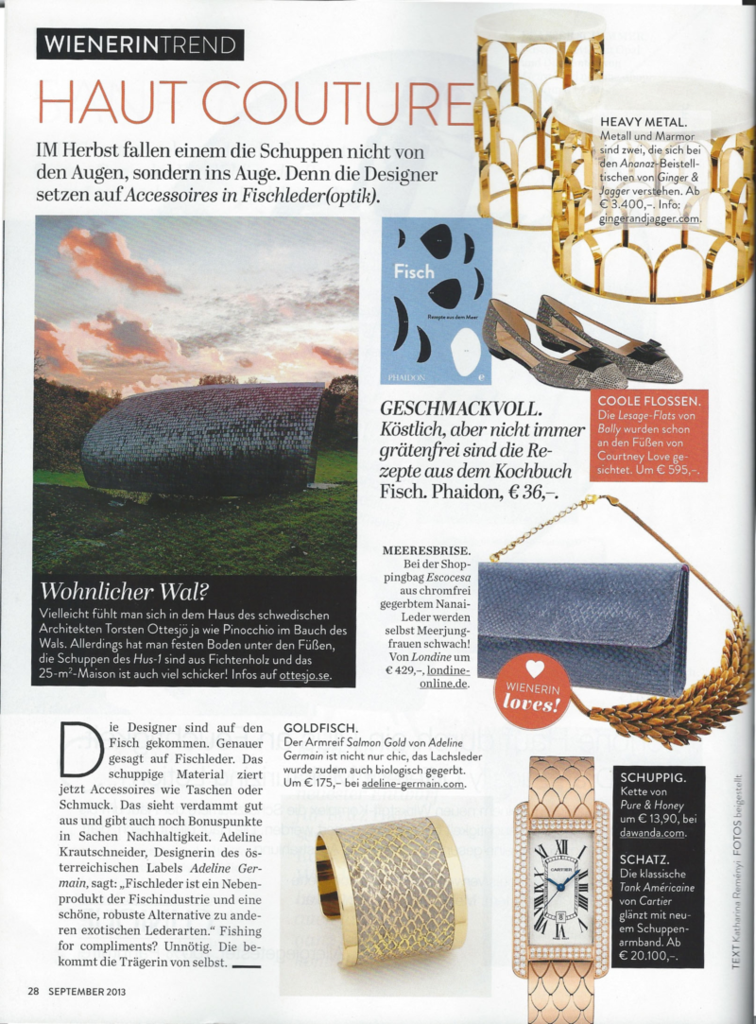 WIENERIN September 2013 - ADELINE GERMAIN Cuff