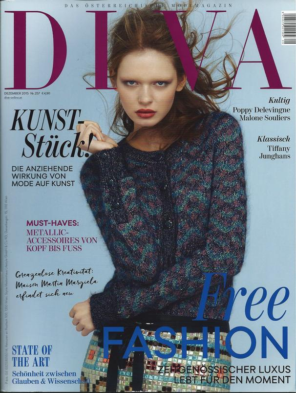 DIVA Magazin December 2015 - Adeline Germain