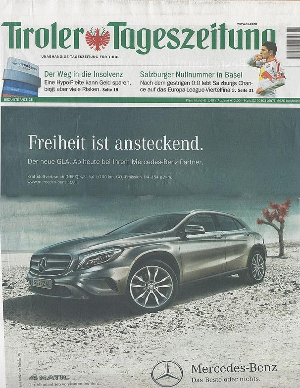 Tiroler Tageszeitung - ADELINE GERMAIN for CADENZZA