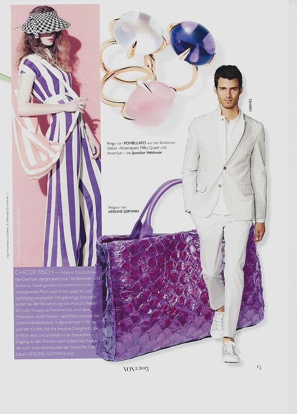 VON Magazin - ADELINE GERMAIN Shopper Arapaima