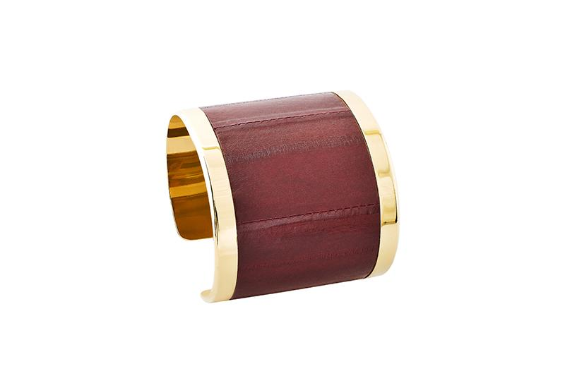 Cuff Eel burgundy/gold-plated frame