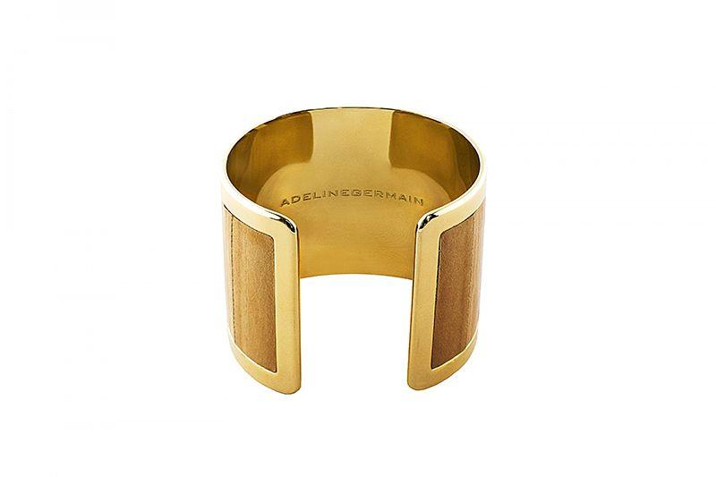 Cuff Eel ginger/gold-plated frame